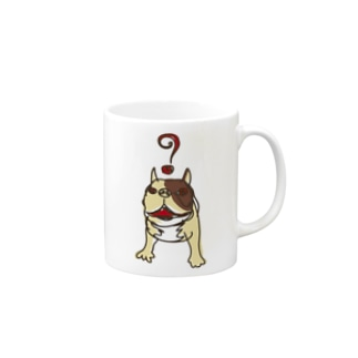 はてなフレンチ(茶色) マグカップ