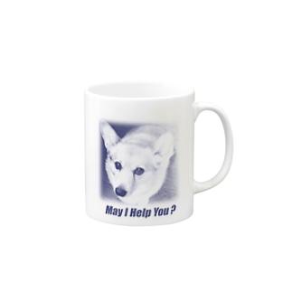 May I Help You ? (Blue) Mugs