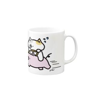 豚さん号はとてもはやい! Mugs