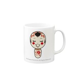 東北なまりのこけしちゃん Mugs