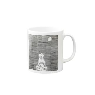 空見る猫 Mugs
