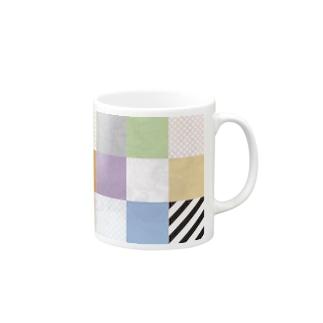 カラフルタイル Mugs