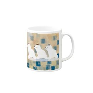 しろくま三匹 Mugs