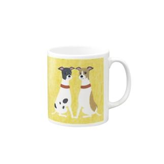 ema-emama『ウィペット』 Mugs