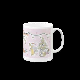 ニャゴロウ雑貨店のクリスマスニャゴカップ マグカップ