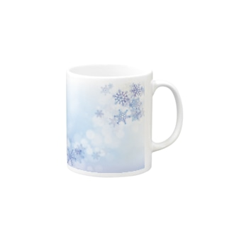 雪の結晶3 Mugs