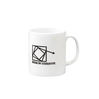 break my stereotype Mugs