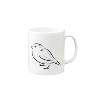 シンプル文鳥 Mugs