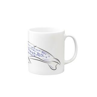 シンプルクジラ Mugs