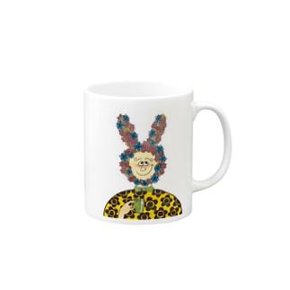 flower rabbit Mugs