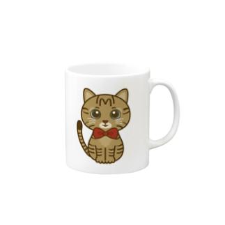 キジトラのすずちゃん・ロゴなし01 Mugs