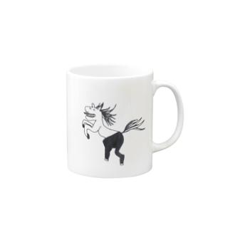 干支シリーズ うま Mugs
