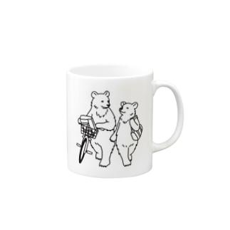 一緒に帰るクマ Mugs