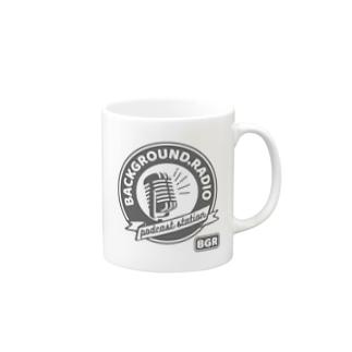 Background.radioのlogo (white) Mugs