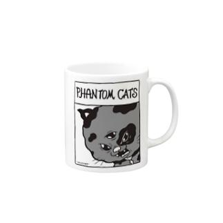 化猫ドット Mugs
