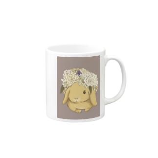 花冠と垂れ耳うさぎ Mugs