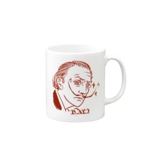 Red DALI Mugs