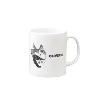 Oliver's cat Mugs