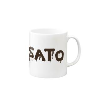 SATO vo.1 BLACK FONT  Mugs