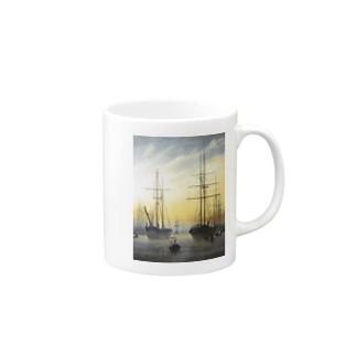 カスパー・ダーヴィト・フリードリヒ《港の眺め》 Mugs