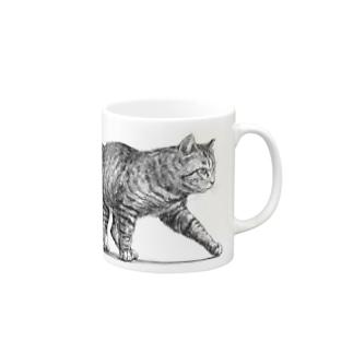 【野良猫の行進】 マグカップ