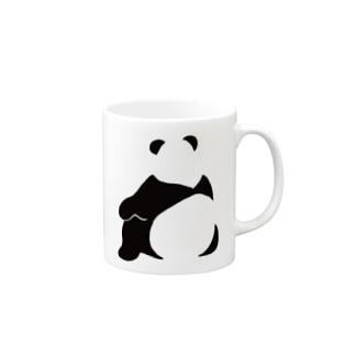 パンダ(せなか) Mugs