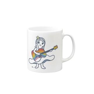 rainbow guiter girl  Mugs