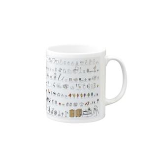 ビーカーくんキャラ集合:カラー Mugs