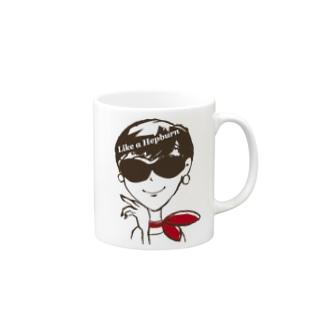 〝ヘプバーンのように〟_2 Mugs