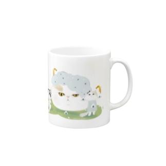 おにぎり祭り5猫バージョン Mugs