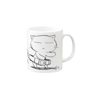 ねこガンマン(腰クイ) Mugs