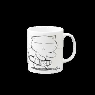 ねこガンマン オフィシャル。のねこガンマン(腰クイ) Mugs