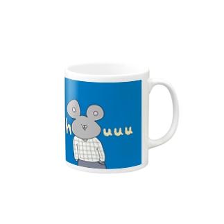 チェック柄好きのねずみくん Mugs