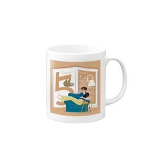 5月生まれの積読消化中、本の虫さん Mugs