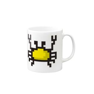 黄色カニアイコン Mugs