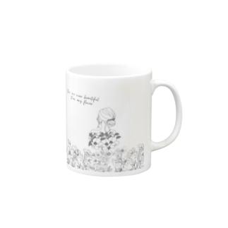 Flowers & Girls Mugs