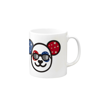 fukumenpandaの覆面パンダさんのマグカップマグカップ
