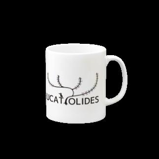 七枝工房SUZURI支店『EUCATOLIDES』の『ブランドロゴ_樹』 Mugs