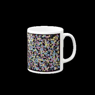 レオナのRandom Paint02(Black) Mugs