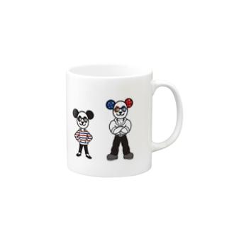 パンダ夫婦のマグカップ Mugs