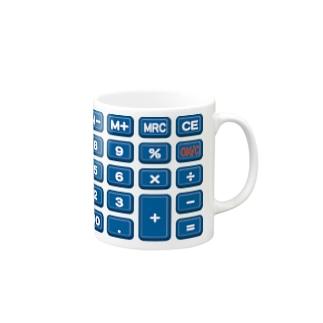 電卓blue マグカップ