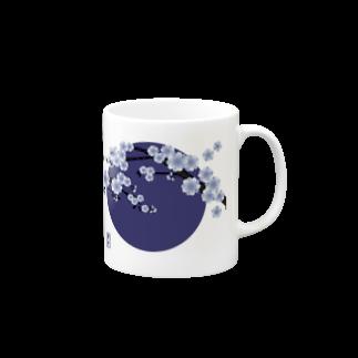 青月の青月【寒桜】マグカップ