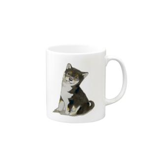かしこそうな黒柴犬‼️ Mug