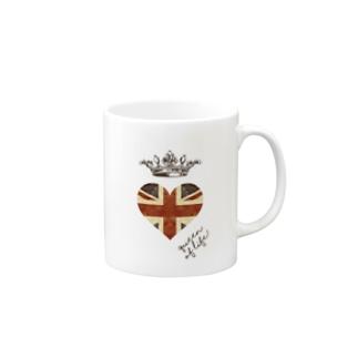 di-2 UKハート Mugs