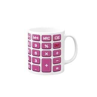 電卓pink Mugs
