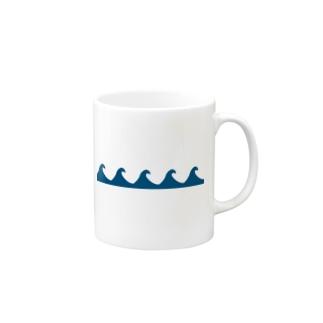 ウェーブ柄𓇼 マグカップ