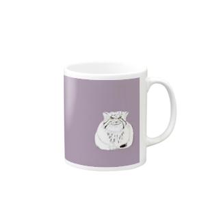 マヌルネコ 猫科 ネコ科 野生猫 野生動物 イラスト デザイナー グッズ Mugs
