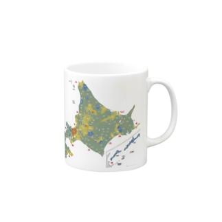 北海道179市町村地図 Mugs