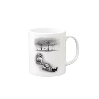 ヤノベケンジ《トらやんの大冒険》(ラッパとおひるね) Mugs