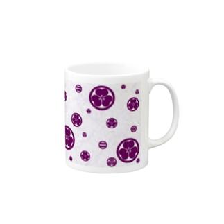 KAMON-Purple-背景付 Mugs